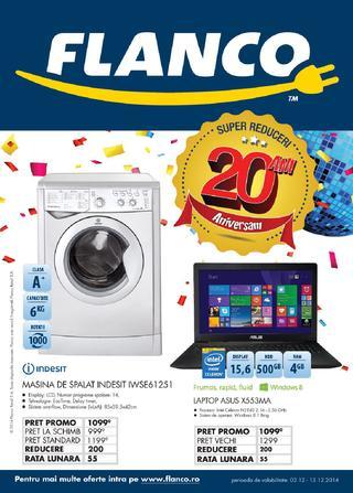 Aniversam 20 ani si avem SUPER REDUCERI - catalog Flanco 03.12.2014 - 13.12.2014