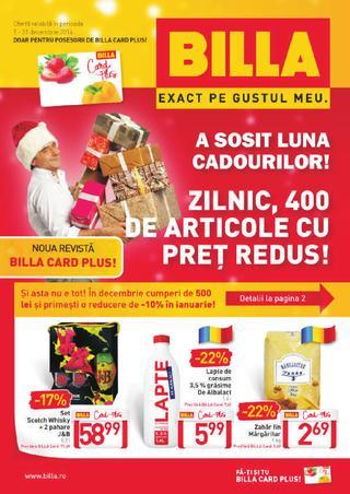 Billa - zilnic 400 de articole cu pret redus - catalog 01.12.2014 - 31.12.2014