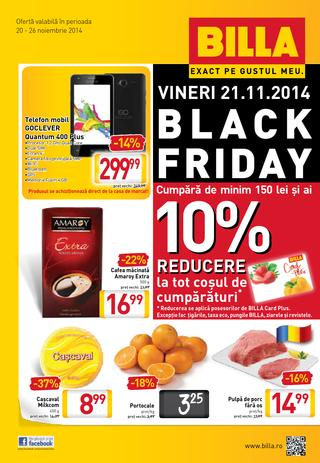Billa BLACK FRIDAY catalog 20.11.2014 - 26.11.2014