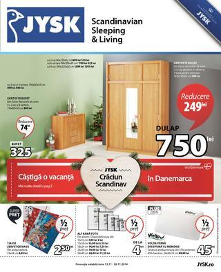 JYSK - CRACIUN SCANDINAV - catalog REDUCERI 13.11.2014 - 26.11.2014