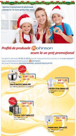 Carrefour - produsele Rohnson la un pret promotional 19.12.2014 - 28.12.2014