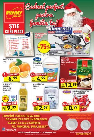 Penny Market - PROGRAM de SARBATORI si catalog 17.12.2014- 24.12.2014