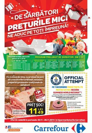 Carrefour cataloage valabile incepand de 20.11.2014