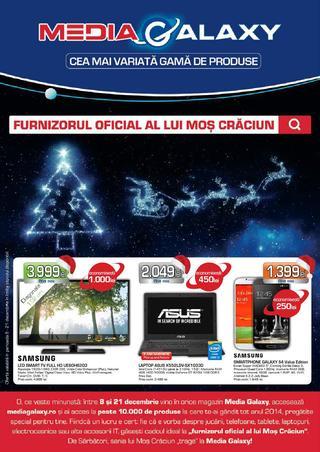 Media Galaxy - furnizorul oficial al lui Mos Craciun - catalog 08.12.2014 - 21.12.2014