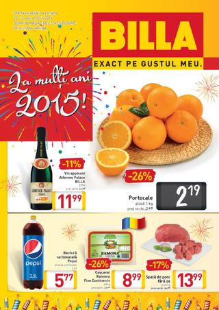 Billa - La multi Ani 2015 - 23.12.2014 - 31.12.2014