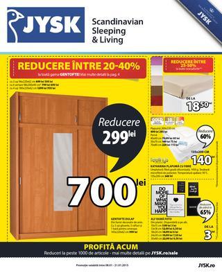 JYSK - reduceri la peste 1000 de articole 8 - 21 ianuarie 2015
