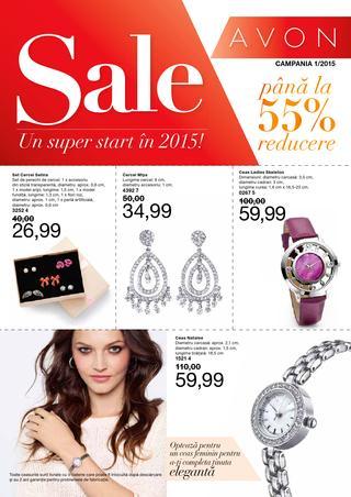 Avon Sale - Pana la 55% reducere - campania 1/2015