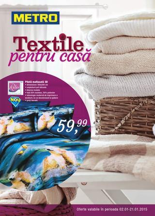 Metro cataloage produse alimentare, nealimentare si textile - 02.01.2015 - 22.01.2015