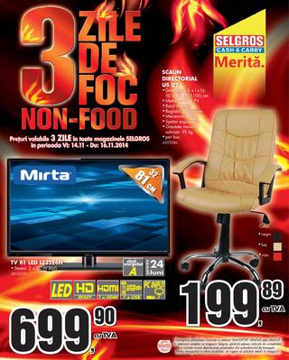 Selgros - catalog 3 zile de FOC - FOOD si NON-FOOD  14.11.2014 - 16.11.2014