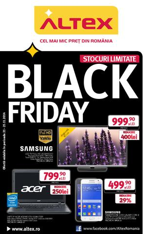BACK FRIDAY ALTEX - catalog 21.11.2014 - 25.11.2014
