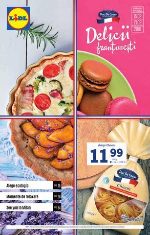 Lidl - delicii frantuzesti - catalog 15 - 21 februarie 2016