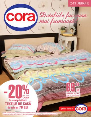 Cora - catalog Textile si catalog Hiperoferte  02.01.2015 - 13.01.2015