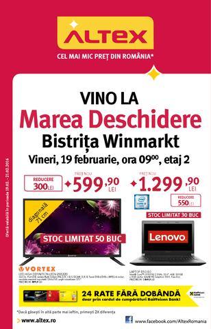 Altex catalog Vino La Marea Deschidere Bistrita Winmarkt - 19-21 Februarie 2016