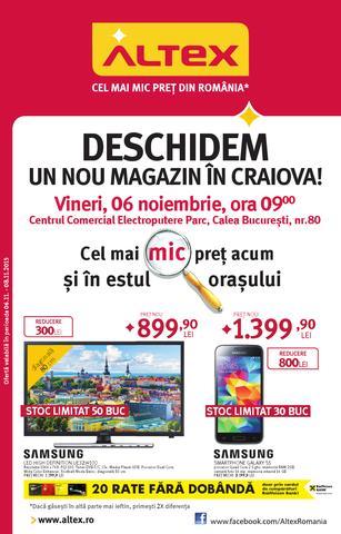 Altex catalog Deschidem un nou Magazin in Craiova - 6-8 Noiembrie 2015