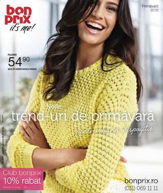 BonPrix catalog Noile trend-uri de primavara - 19 Ianuarie 2016 - 04 Iulie 2016