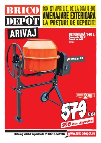 Brico Depot catalog Amenajare Exterioara La Preturi De depozit - 1-13 Aprilie 2016