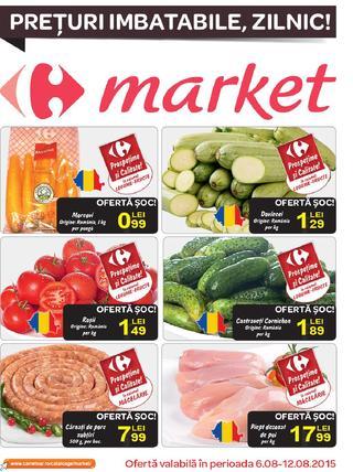 Carrefour catalog Market 6 - 12 august 2015