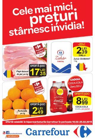 Catalog Hipermarket Carrefour 16 - 25  februarie 2015