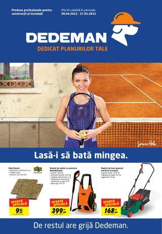 DEDEMAN catalog 30 aprilie - 27 mai 2015
