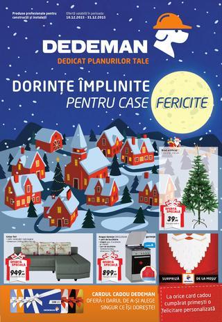 DEDEMAN catalog dorinte implinte pentru case fericite - 10-31 Decembrie 2015
