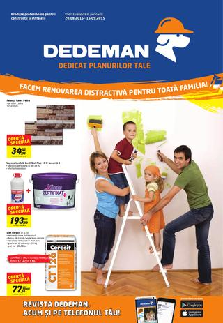 Dedeman catalog national septembrie 2015