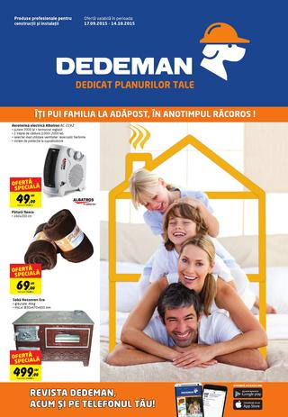 Dedeman catalog septembrie octombrie 2015