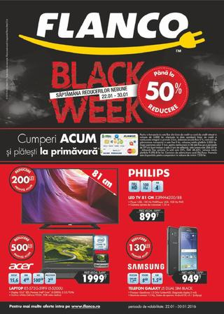 Flanco catalog Black week -50% Reducere - 22-30 Ianuarie 2016