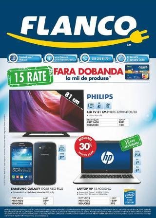Flanco catalog 15 Rate Fara Dobanda la mii de produse - 10-23 Ianuarie 2016