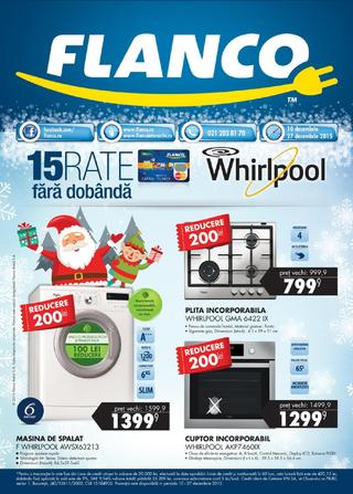 FLANCO catalog 15 Rate Whirpool fara dobanda - 10-27 Decembrie 2015