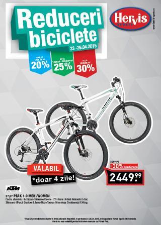 HERVIS SPORTS - reduceri de pana la 70 % doar in Sibiu  si catalog biciclete ROMANIA 22 - 26 aprilie 2015