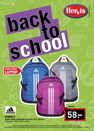 Hervis sport back to school septembrie 2015