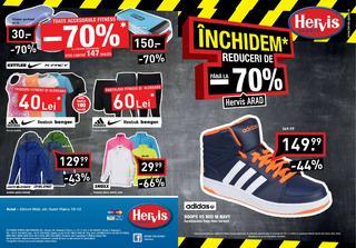 Hervis sport catalog Inchidem reduceri de -70% - 22 Octombrie - 1 Noiembrie 2015