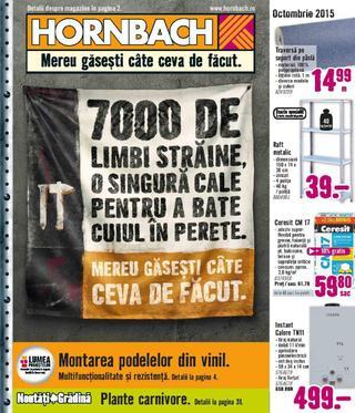 Hornbach catalog octombrie 2015