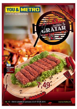 Invitatie la gratar de Metro - catalog produse alimentare  23 iulie - 5 august 2015