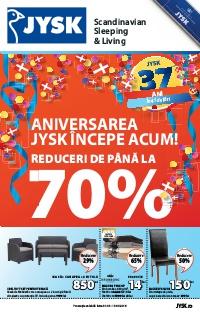 JYSK catalog Aniversarea incepe Acum Reduceru de Pana la -70% - 31 Martie - 13 Aprilie 2016