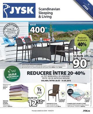 JYSK - catalog 28 mai - 10 iunie  2015