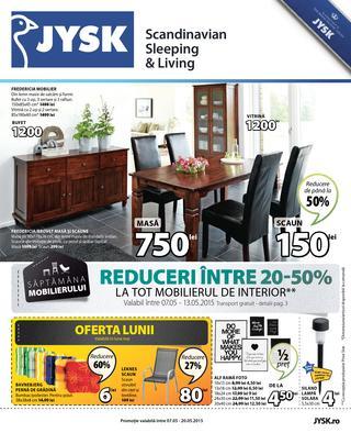JYSK - catalog reduceri intre 30 - 50 % la tot mobilierul de interior 7 - 20 mai 2015