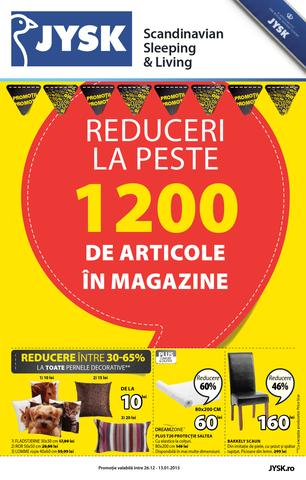 Jysk Catalog Reduceri La Peste 1200 De Articole in Magazine - 26 Decembrie 2015 - 13 Ianuarie 2016