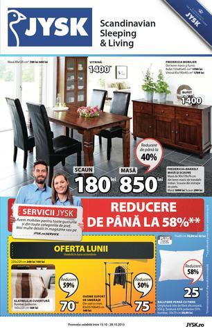 JYSK catalog Reducere de Pana la 58% - 15 Octombrie - 28 Octombrie 2015