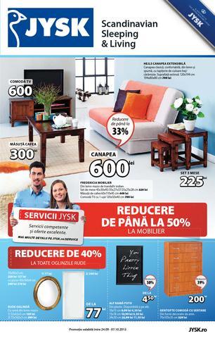 JYSK catalog REDUCERE DE PANA LA 50% LA MOBILAR  - 24 Septembrie - 7 Octombrie 2015