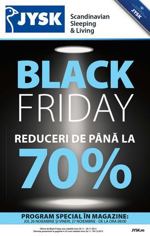 JYSK BLACK FRIDAY Reduceri de pana la 70% - 26-27 Noiembrie 2015
