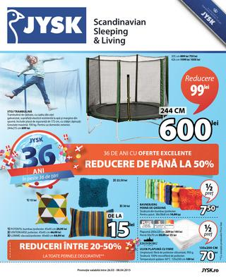 JYSK catalog 26 martie - 8 aprilie 2015
