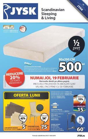 Jysk - catalog Promotii si Reduceri 20 februarie - 4 martie 2015