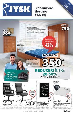 JYSK catalog Reduceri Intre 20-50% la tot Mobilierul - 22 Octombrie - 4 Noiembrie 2015