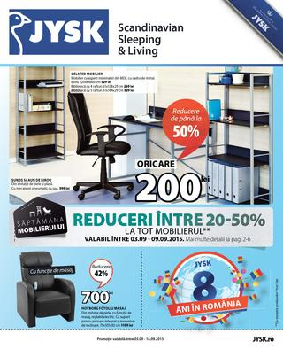 Jysk catalog septembrie 2015