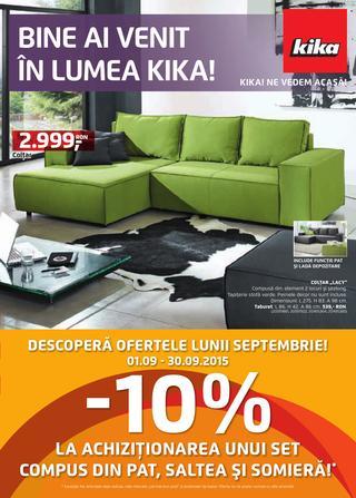 Kika Romania - catalog Reducerilor lunii septembrie 2015