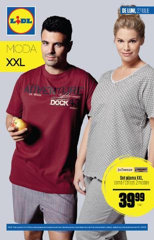 Lidl - catalog MODA XXL 27 iulie - 2 august 2015