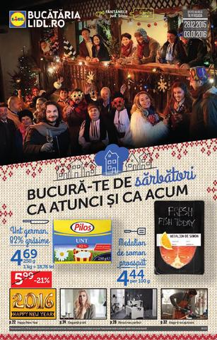 Lidl catalog Bucura-te de Sarbatori ca Atunci si ca Acum - 28 Noiembrie - 3 Decembrie 2015