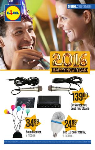 LIDL catalog Happy New Year 2016 - 28 Decembrie - 6 Ianuarie 2015
