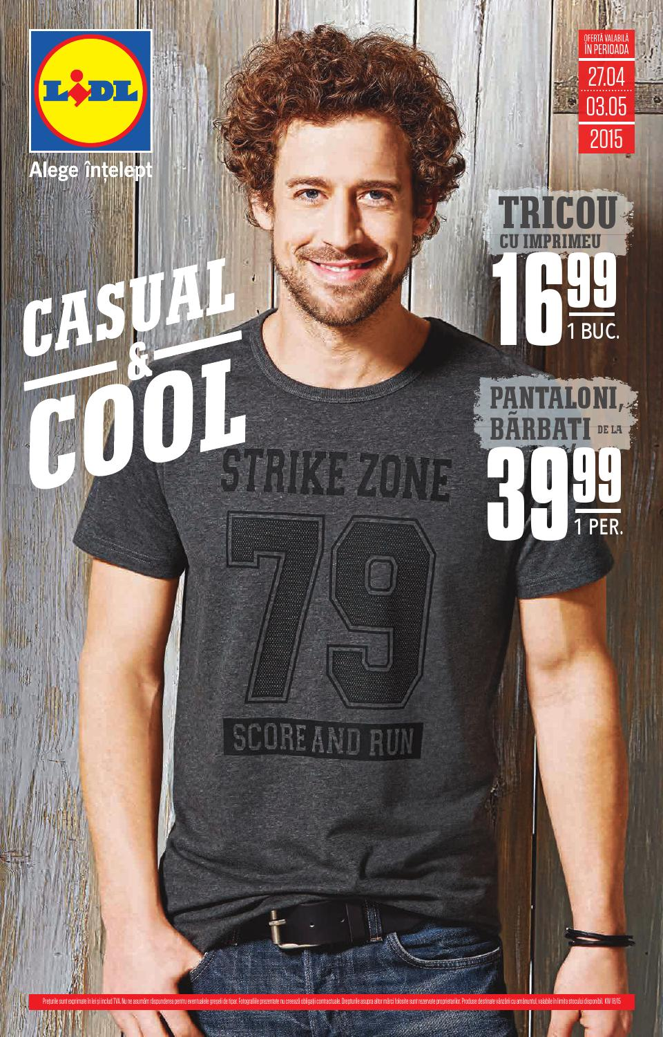 Lidl catalog - COOL and CASUAL 27 aprilie - 3 mai 2015